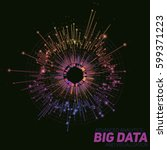 Vector Abstract Round Big Data...