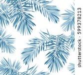 indigo vector seamless pattern... | Shutterstock .eps vector #599378213