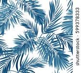 seamless vector indigo blue... | Shutterstock .eps vector #599378333