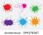 vector paint splatters.paint... | Shutterstock .eps vector #599378387