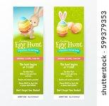 set of tickets for easter egg... | Shutterstock .eps vector #599379353