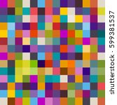 background of colorful squares  ... | Shutterstock .eps vector #599381537
