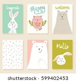 collection of cute artistic... | Shutterstock .eps vector #599402453
