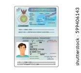 vector international open... | Shutterstock .eps vector #599406143