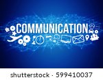 view of communication title... | Shutterstock . vector #599410037
