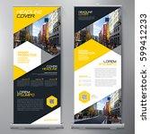 business roll up. standee... | Shutterstock .eps vector #599412233