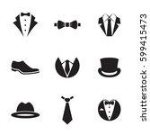 suit element icons set. black...