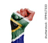 south africa national flag... | Shutterstock . vector #599417333
