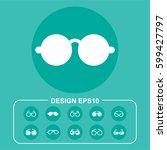 ocular pictograph | Shutterstock .eps vector #599427797