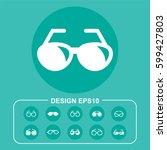 vector illustration ocular icon | Shutterstock .eps vector #599427803