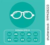 ocular pictograph | Shutterstock .eps vector #599428223