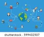global logistics and... | Shutterstock .eps vector #599432507