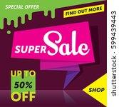 super sale banner template...   Shutterstock .eps vector #599439443