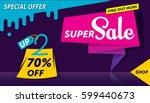 super sale banner template...   Shutterstock .eps vector #599440673