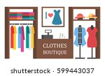 clothing shop store. clothes... | Shutterstock .eps vector #599443037