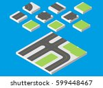 isometric road. vector... | Shutterstock .eps vector #599448467