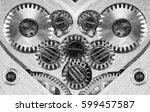 clockwork old mechanical watch  ... | Shutterstock . vector #599457587