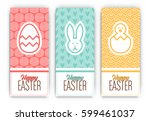 easter banners set   three... | Shutterstock .eps vector #599461037