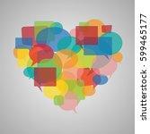 speech bubbles heart | Shutterstock .eps vector #599465177