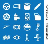 set of 16 part filled icons... | Shutterstock .eps vector #599465693