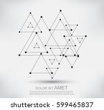 vector connection background... | Shutterstock .eps vector #599465837