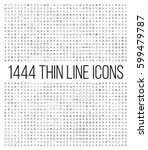exclusive 1444 thin line icons...