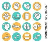 big set symbols of... | Shutterstock .eps vector #599480207