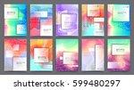 business brochure design ... | Shutterstock .eps vector #599480297