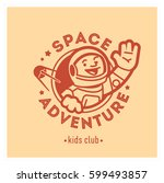 kids club logo with happy... | Shutterstock .eps vector #599493857