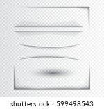 realistic vector shadow effect... | Shutterstock .eps vector #599498543