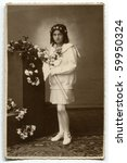 Vintage Photo Of First Communion