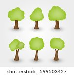 tree icons set.vector design... | Shutterstock .eps vector #599503427