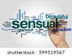 sensual word cloud concept | Shutterstock . vector #599519567