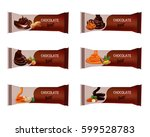 chocolate bar isolated on white....   Shutterstock .eps vector #599528783