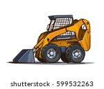 skid loader.  cartoon...   Shutterstock .eps vector #599532263