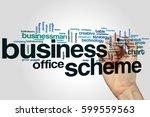 business scheme word cloud... | Shutterstock . vector #599559563