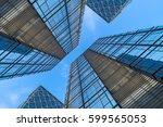 windows of skyscraper business... | Shutterstock . vector #599565053