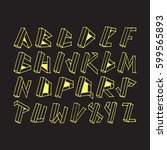 graphic font for your design.... | Shutterstock .eps vector #599565893