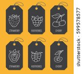 set of tags or label templates...   Shutterstock .eps vector #599578577