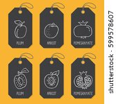 set of tags or label templates...   Shutterstock .eps vector #599578607