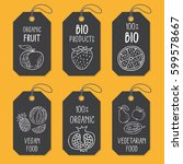 set of tags or label templates... | Shutterstock .eps vector #599578667