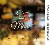 restaurant menu design. vector... | Shutterstock .eps vector #599584427