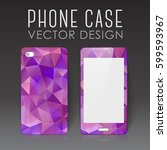 case for mobile phone with... | Shutterstock .eps vector #599593967