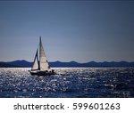 sailing boat | Shutterstock . vector #599601263