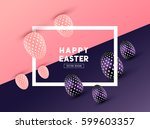 an abstract easter frame design ... | Shutterstock .eps vector #599603357
