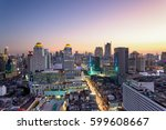 aerial view of bangkok modern...   Shutterstock . vector #599608667