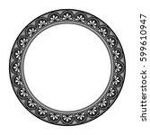 circle vintage frame | Shutterstock .eps vector #599610947