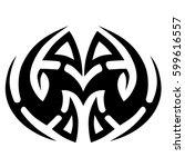 tattoo tribal vector design.... | Shutterstock .eps vector #599616557