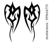 vector tribal tattoo designs.... | Shutterstock .eps vector #599616773