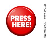 glossy red round button with... | Shutterstock .eps vector #599619263
